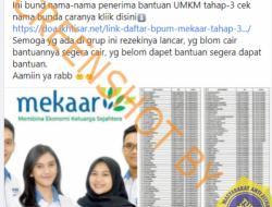 [Hoaks atau Fakta] Bantuan Produktif Usaha Mikro Bantuan Langsung Tunai UMKM Tahap 3