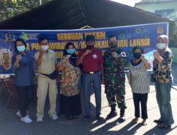 Kodim 1308 LB Gelar Vaksinasi Purnawirawan TNI AD, Warakauri & Lansia