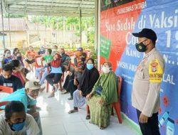 Polsek Buko Vaksinasi Massal Sambut HUT Bhayangkara ke 75